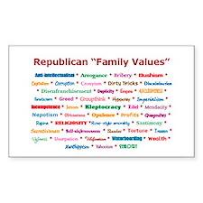Republican Values Rectangle Decal