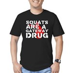 Squats Drug 2 Men's Fitted T-Shirt (dark)