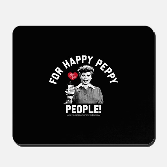 Lucy Happy Peppy People Mousepad