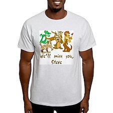 """Good-Bye, Croc Hunter"" Ash Grey T-Shirt"