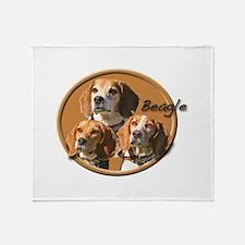 Beagles (3) Throw Blanket