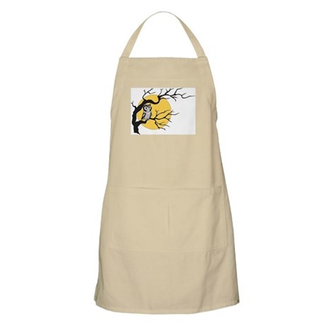 Owl and Full Moon BBQ Apron