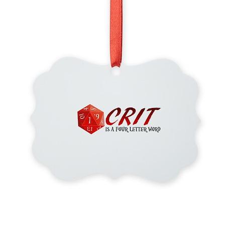 Four Letter Crit Picture Ornament