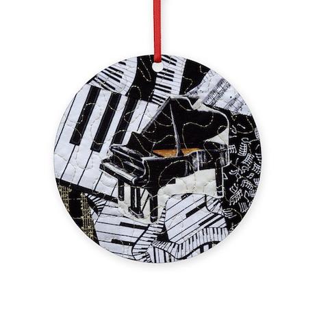Black Grand Piano Ornament