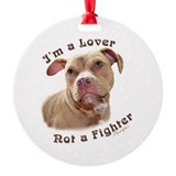 Pit bull Round Ornament