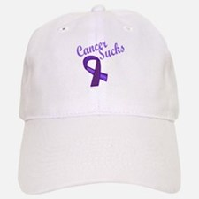 Cancer Sucks Purple Ribbon Hat