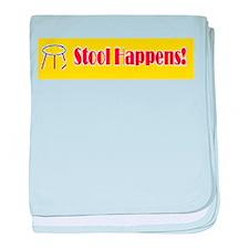 Stool Happens yellow baby blanket