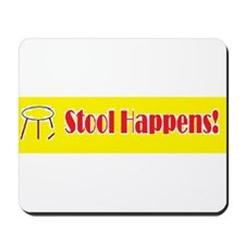 Stool Happens yellow Mousepad