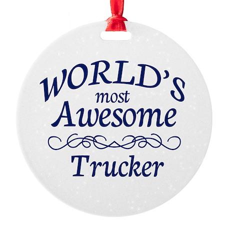 Trucker Round Ornament