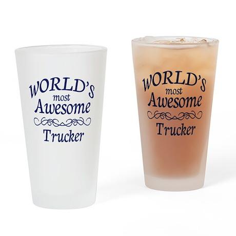 Trucker Drinking Glass