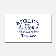 Trucker Car Magnet 20 x 12