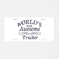 Trucker Aluminum License Plate
