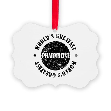 World's Greatest Pharmacist Picture Ornament