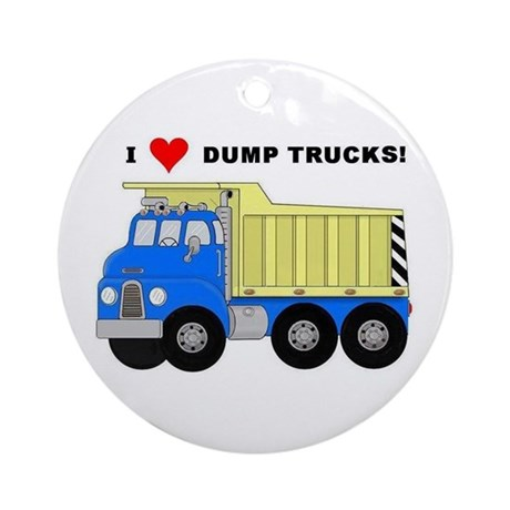 I Heart Dump Trucks Ornament (Round)
