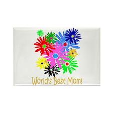 Worlds Best Mom Rectangle Magnet