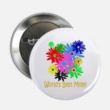"Worlds Best Mom 2.25"" Button"