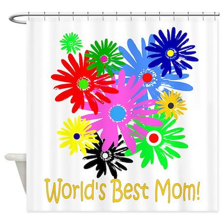 Worlds Best Mom Shower Curtain