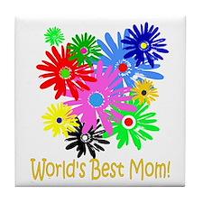 Worlds Best Mom Tile Coaster