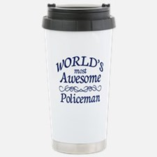 Policeman Stainless Steel Travel Mug
