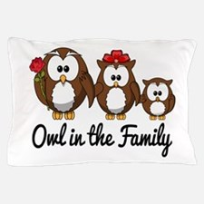 Owl in the Family Pillow Case