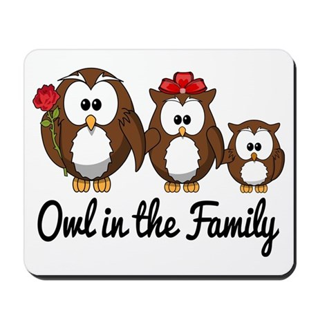 Owl in the Family Mousepad