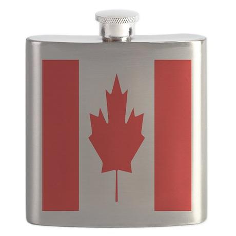 Canadian Flag SC Flask