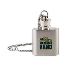 Let There Be Marching Band Flask Necklace