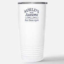 Real Estate Agent Stainless Steel Travel Mug