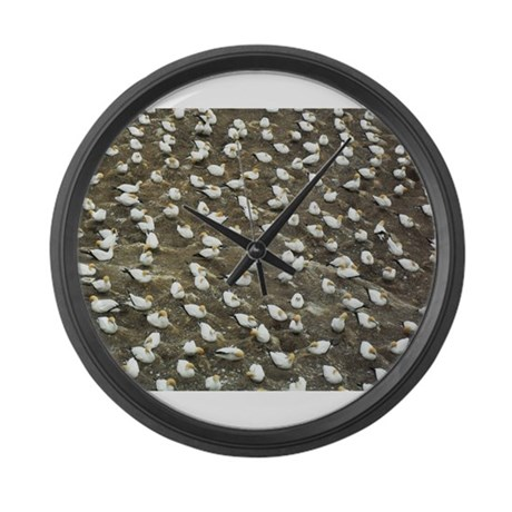 Birds on Rock Large Wall Clock