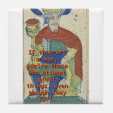 If Thou Art A Man - Seneca The Younger Tile Coaste
