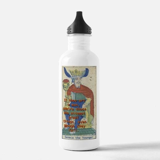 If Thou Art A Man - Seneca The Younger Water Bottl