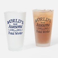 Postal Worker Drinking Glass