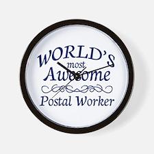 Postal Worker Wall Clock