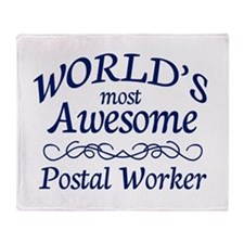 Postal Worker Throw Blanket
