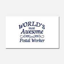 Postal Worker Car Magnet 20 x 12