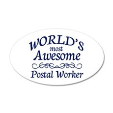 Postal Worker 35x21 Oval Wall Decal