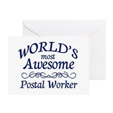 Postal Worker Greeting Card