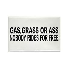 Gas, Grass, or Ass Rectangle Magnet (100 pack)