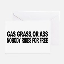 Gas, Grass, or Ass Greeting Cards (Pk of 20)
