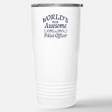 Police Officer Stainless Steel Travel Mug