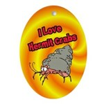 I Love Hermit Crabs Ornament (Oval)