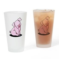 Pretty Little Piggy Drinking Glass