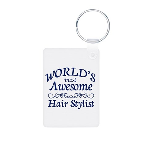 Hair Stylist Aluminum Photo Keychain