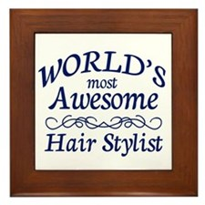 Hair Stylist Framed Tile