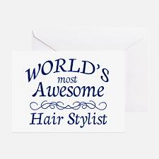 Hair Stylist Greeting Card