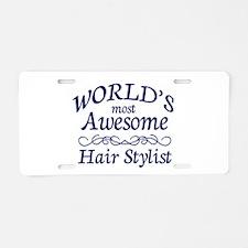 Hair Stylist Aluminum License Plate