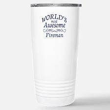 Fireman Stainless Steel Travel Mug