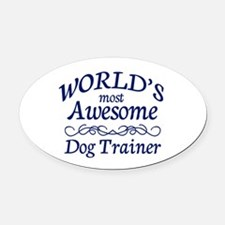 Dog Trainer Oval Car Magnet