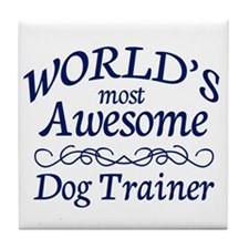 Dog Trainer Tile Coaster
