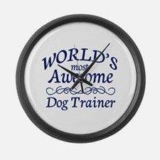 Dog Trainer Large Wall Clock